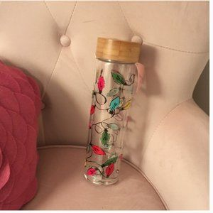 Kate spade tangled lights glass hydration water bottle nwt